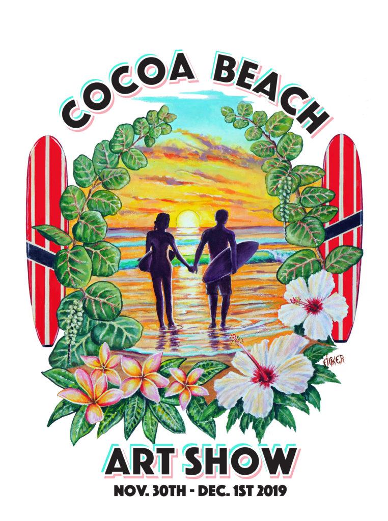 T Shirt Poster Design For 2019 Cocoa Beach Art Show
